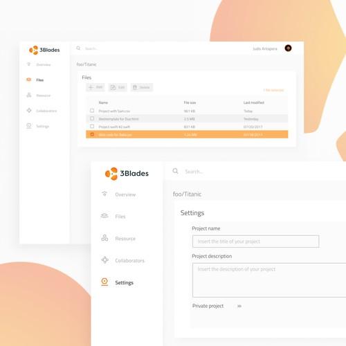 3Blades Web-App Design