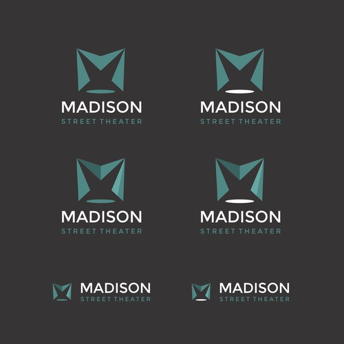 Contemporary logo for Madison street theater in Chicago