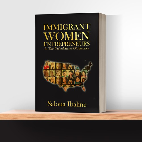"Book Cover ""The Stories Immigrant Women Entrepreneurs in The USA"""