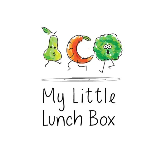 Youthful logo for an organic kid's lunch service