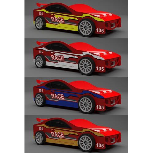 Design - Race car bed