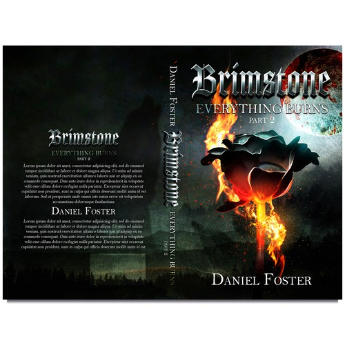 Book cover for grim fantasy BRIMSTONE