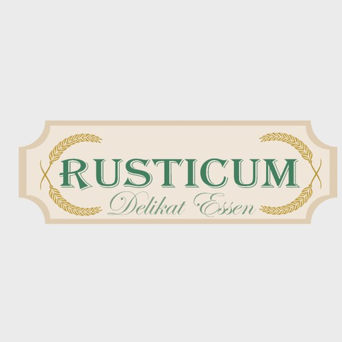 New logo for rusticum, a food blog