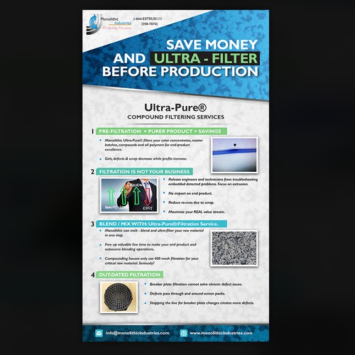 Flier Design for Reverse Osmosis Company