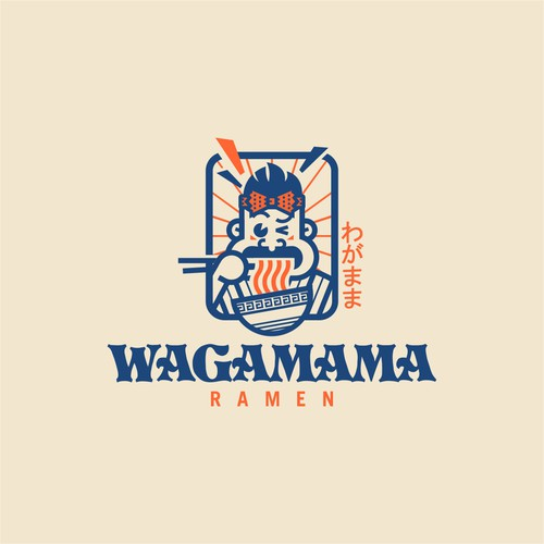 Japanese vibe design for a ramen joint