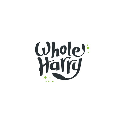 Logo concept for healthy whole food brand