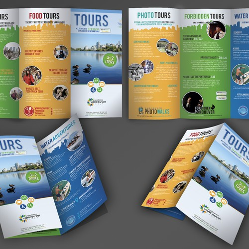 Create a visually compelling brochure for the Experience Vancouver Group