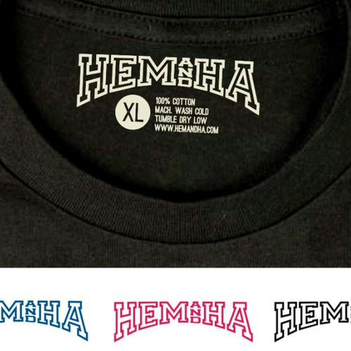 HEM AND HA: Hot, Upcoming T-Shirt Co. needs an original logo you'll be proud to add to your folio.