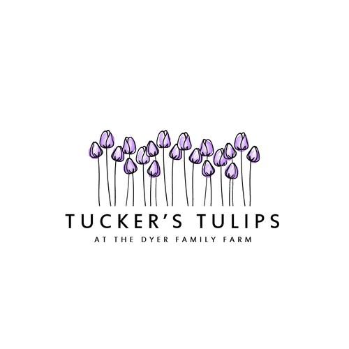 Logo for tulip farm