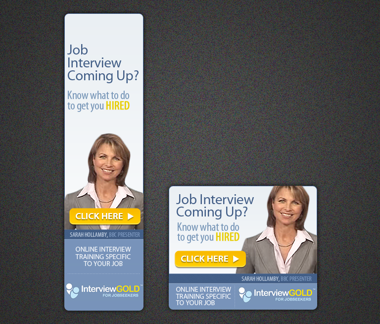 Create the next banner ad for InterviewGold.com