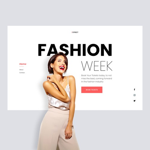 Fashion event website landing page