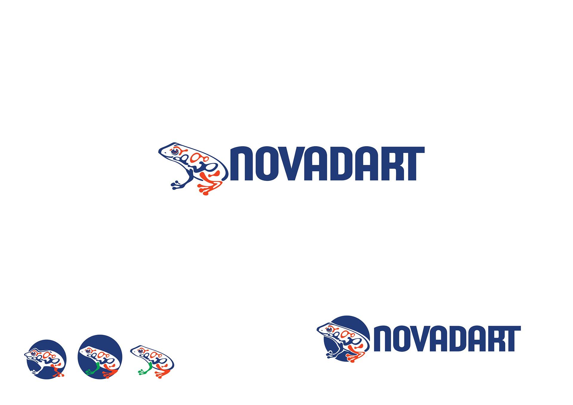 Create modern logo for the software development company Novadart