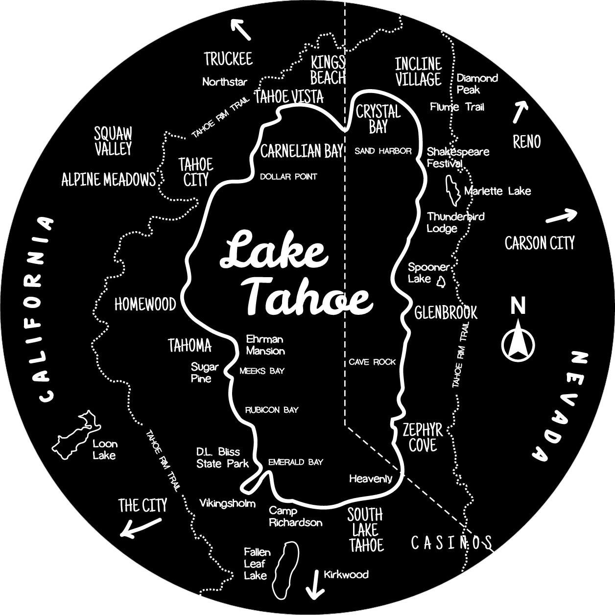 Tahoe towel