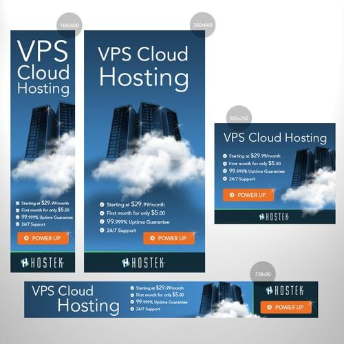 Banner ads design for hosting company