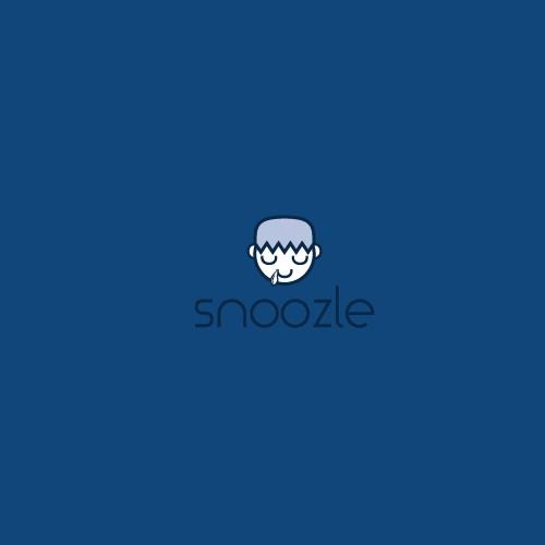 Cute logo with sleeping head icon