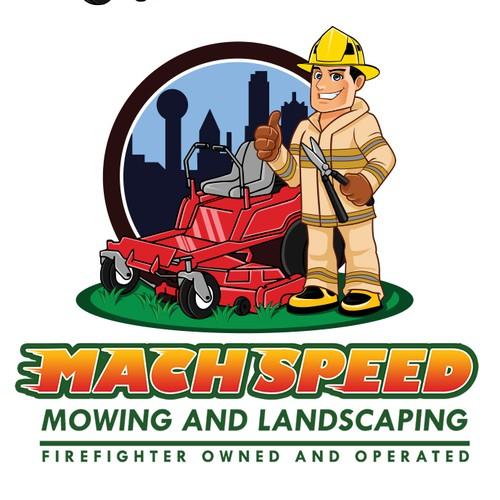 Character logo needed for Firefighter Landscaping Company