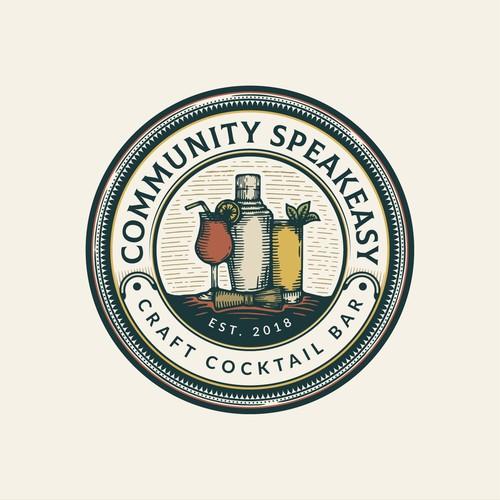 Classic Speakeasy Badge Logo concept🍸