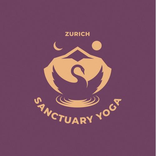 Yoga studio logo concept