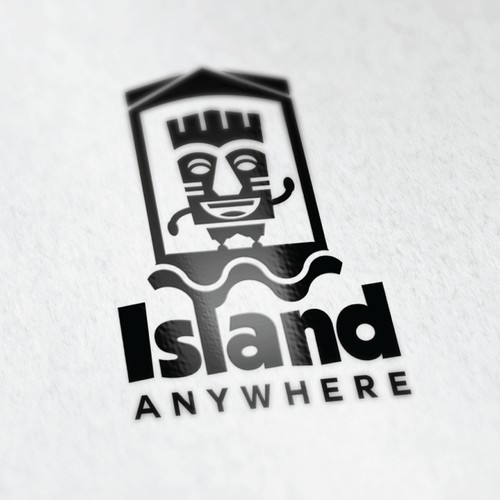 Bold logo for a floating island product
