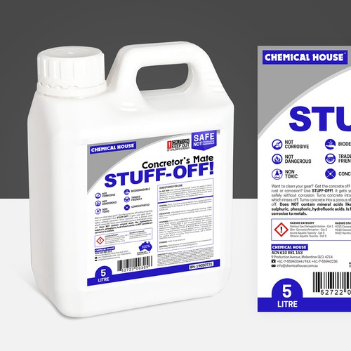 Chemical House | Concretor's Mate STUFF-OFF! Label Design