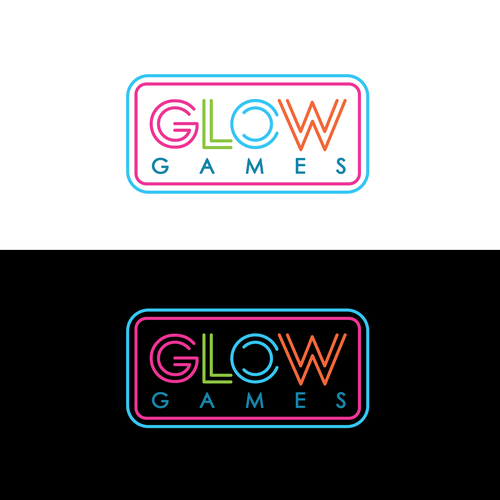 feminine logo for Glow Games