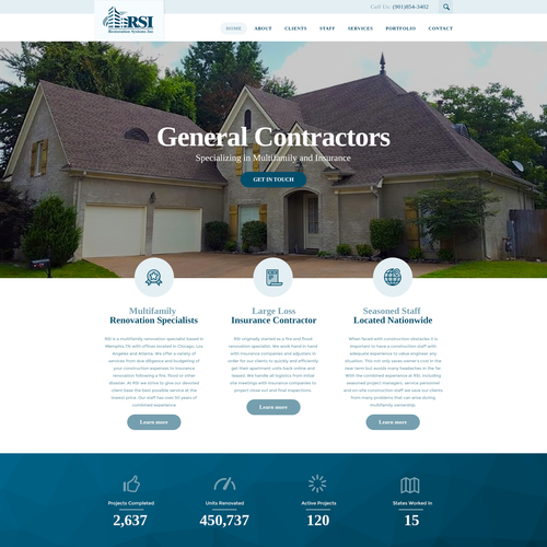Wordpress theme for Restoration Systems Inc