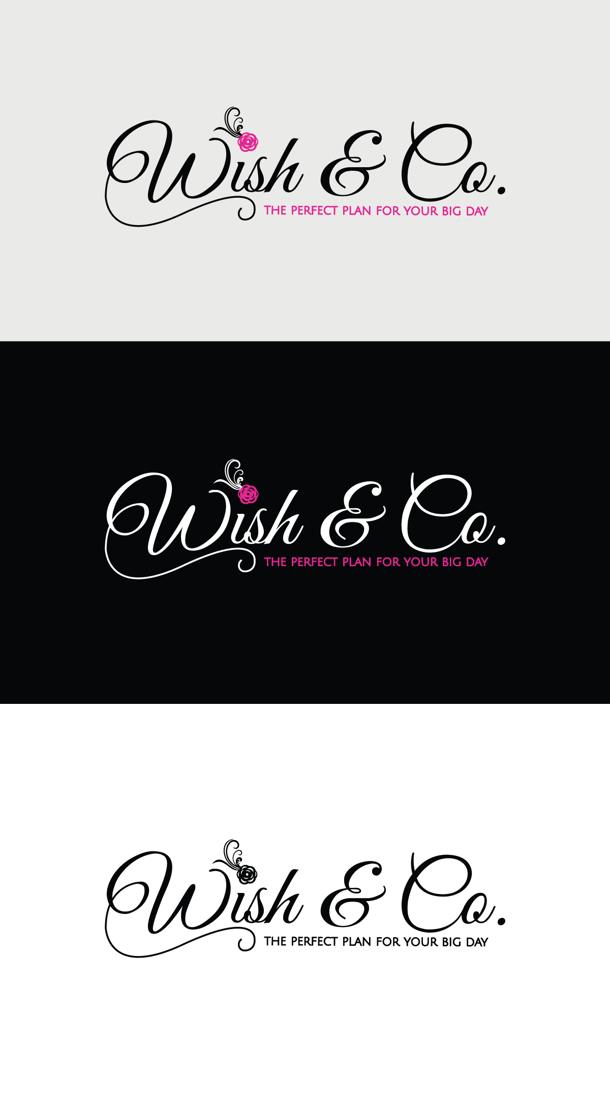 destination wedding planning company brand identity package for Wish&Co.