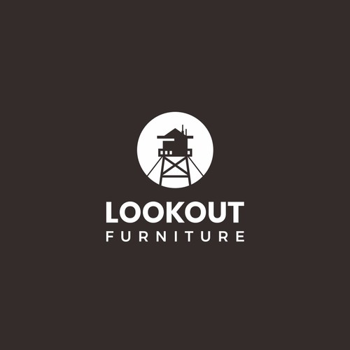 Silhouette logo for custom furniture company: Lookout Furniture