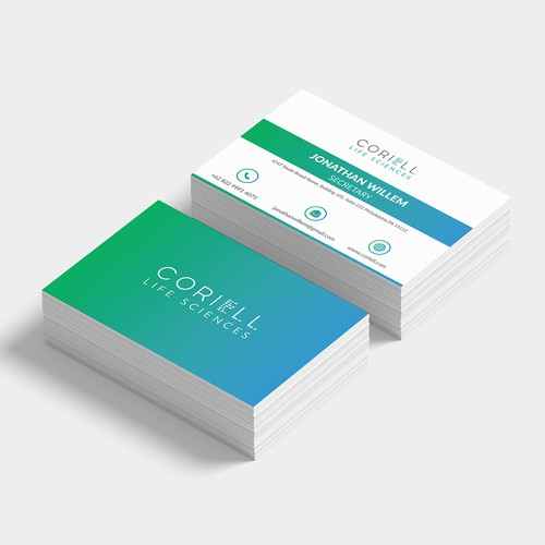 Business card concept for Coriell