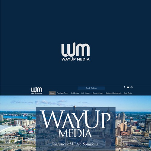 logo concept for way up media