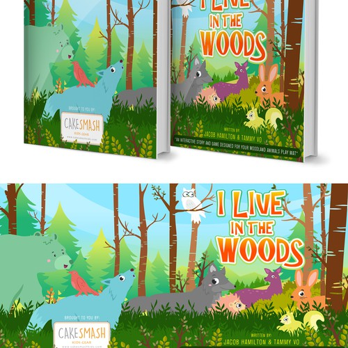 I LIVE IN THE WOODS illustrations