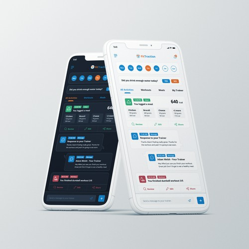 Iphone workout and fitness tracking application design.