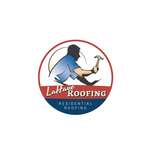 Logo/sign for roofing company