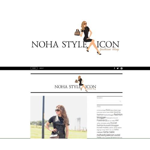 A beautiful design for a beautiful fashion blogger