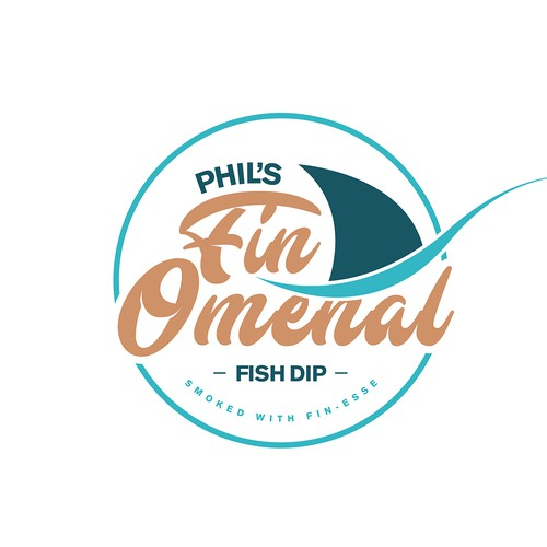 Logo Concept for Phil's Fin-Omenal Fish Dip