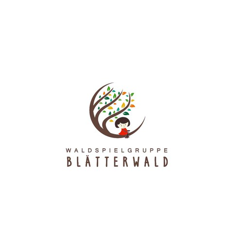 "Logo concept for ""Blätterwald"""
