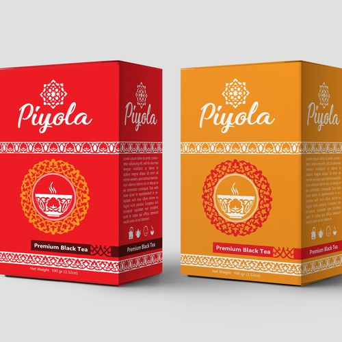 Piyola tea packaging design and product-Logo
