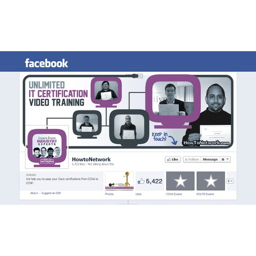 Facebook Background for IT Training Company