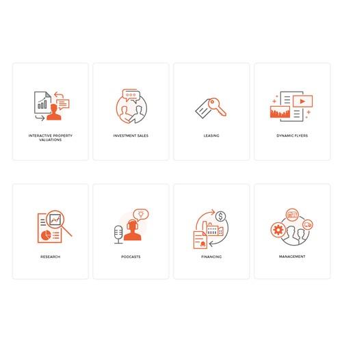 Custom Icons for Brokerage Website