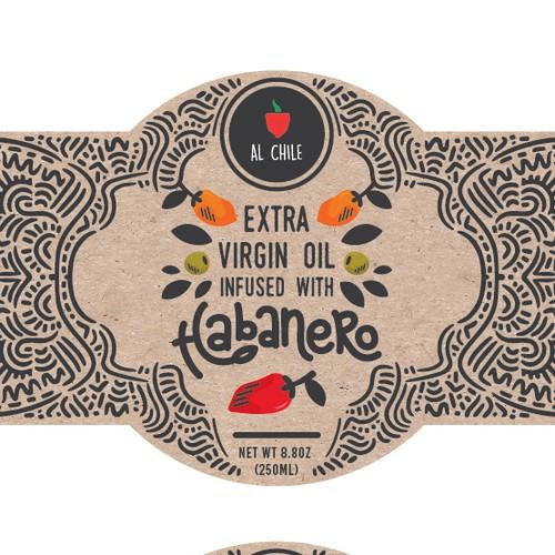 Label design for artisanal sauces & oils
