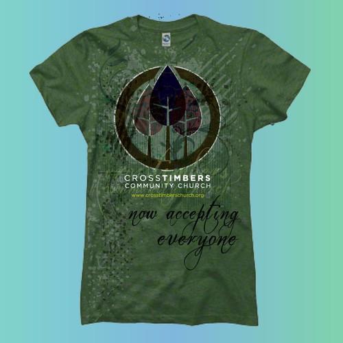 Bold T-Shirt Design for Church