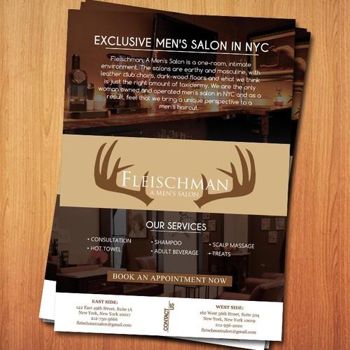 NYC Based High End Men's Hair Salon Flyer