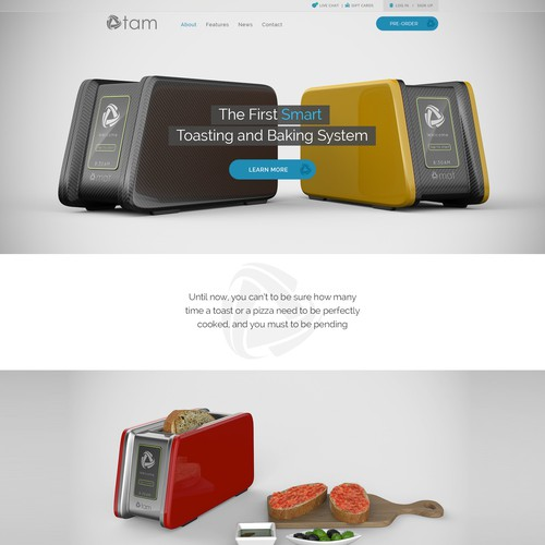 New website for an innovative technological product
