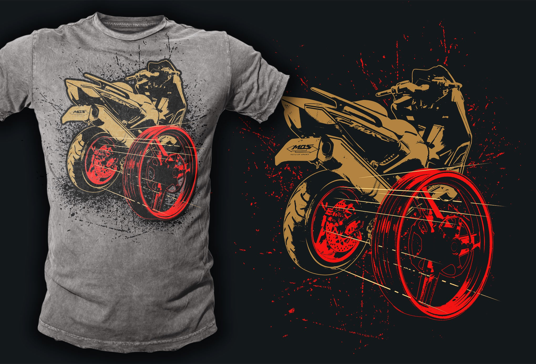 Create a Cool & Unique T-shirt design for a MOS brand wheels product!