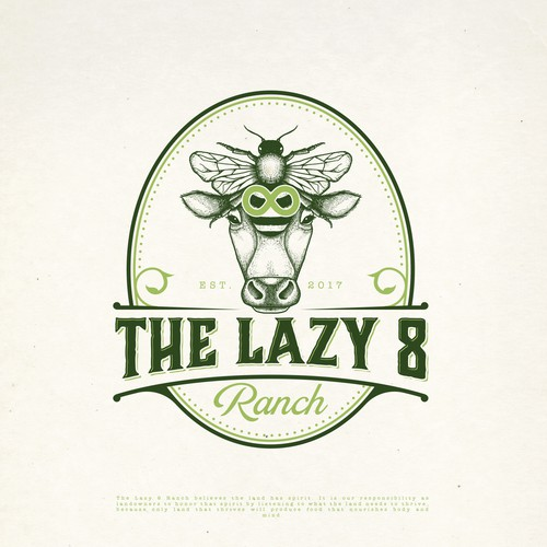 THE LAZY 8 RANCH LOGO DESIGN