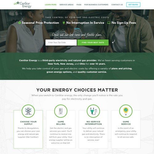 Landing Page Wanted For Electricity and Gas Customers - Will Lead to Six More Landing Pages!