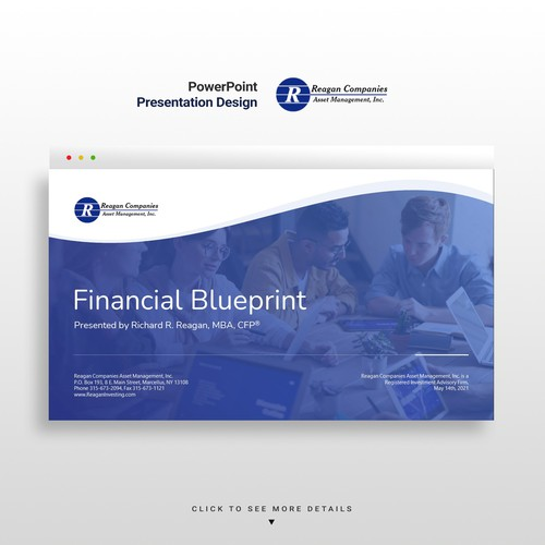 Financial Planning Presentation Design