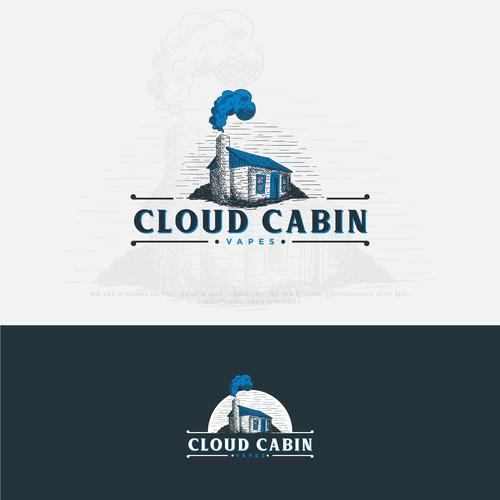 Handdrawn Logo for Cloud cabin Vapes