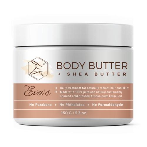 Body Butter 150 gr jar label