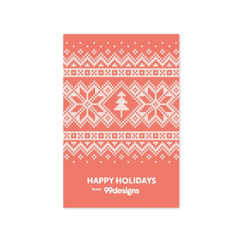 99designs holiday card contest 2017